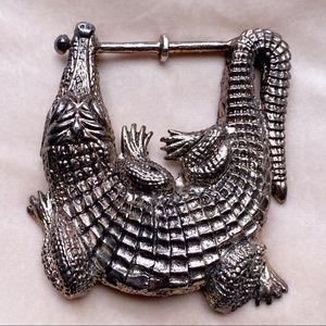 BARRY KIESELSTEIN CORD Alligator Belt Buckle